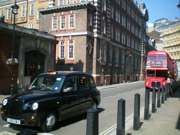 Černé taxi anglie