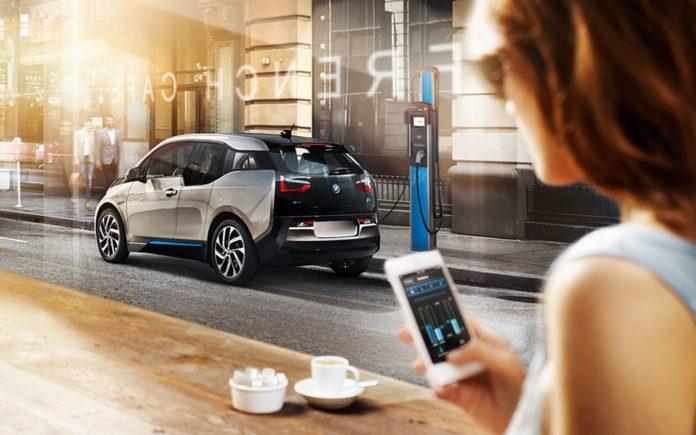 BMW otevírání přes smartphone